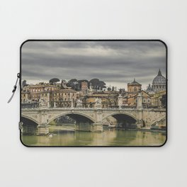 Tiber River Rome Cityscape Photo Laptop Sleeve