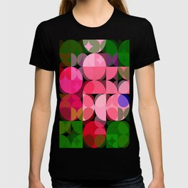 Pink Roses in Anzures 2 Abstract Circles 3 T-shirt