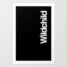 Wildchild_black Art Print