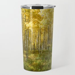 Yellow Aspens II Travel Mug