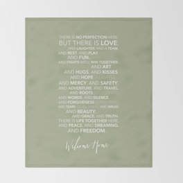 Family Manifesto (Green) Throw Blanket