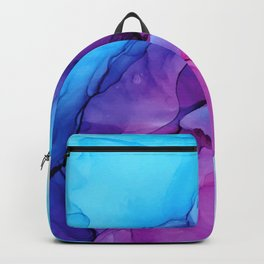Aqua Pop - Alcohol Ink Painting Backpack