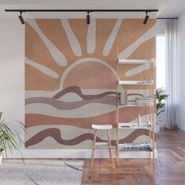 Sea Sunset Wall Mural