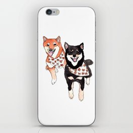 Two Shiba Inu with Bandana iPhone Skin