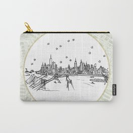 New York, New York City Skyline Illustration Drawing Carry-All Pouch