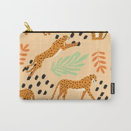 Cheetahs pattern beige Carry-All Pouch