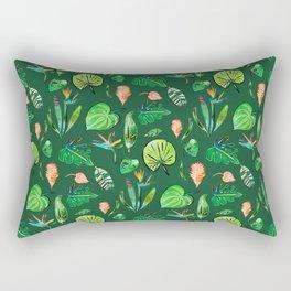 Tropical Paradise Green Rectangular Pillow