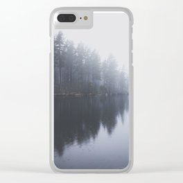 Morning blues Clear iPhone Case