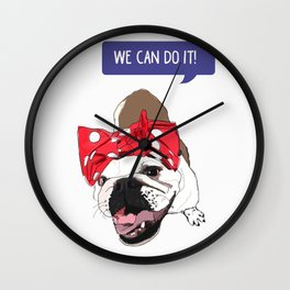 We Can Do it! Rosie the Bulldog Wall Clock