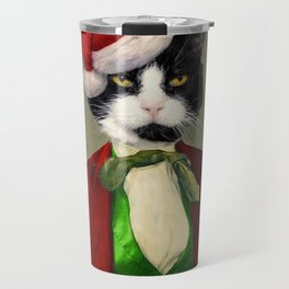Puccini goes to a Christmas Party Travel Mug