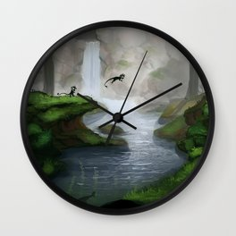 Masked creatures Wall Clock