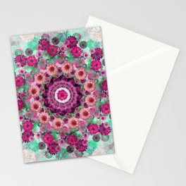 Happy pistachio green background Stationery Cards
