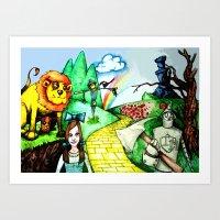 oz Art Prints featuring OZ by Jamie Clayton