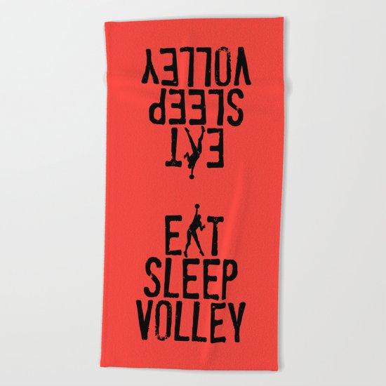 Eat Sleep Volley Beach Towel