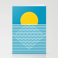 sunrise Stationery Cards featuring Sunrise by FLATOWL