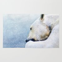 polar bear Area & Throw Rugs featuring Polar Bear by ThePhotoGuyDarren