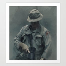 LRRP- The silent eyes and ears Art Print