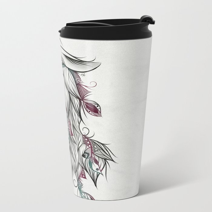 Llama Metal Travel Mug