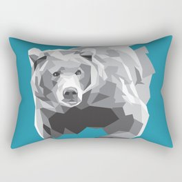 Geometric Grey Bear Rectangular Pillow