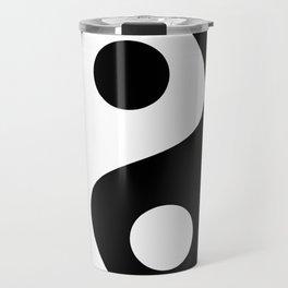 Yin and Yang - Brown Travel Mug