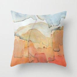 Blue and Orange Merger Throw Pillow