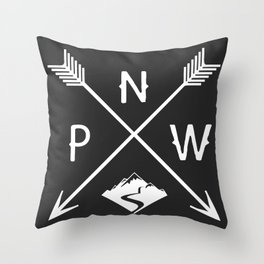 Pacific North West, Seattle Washington Throw Pillow