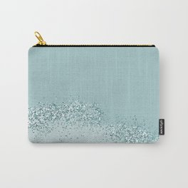 dusty blue grey glitter Carry-All Pouch