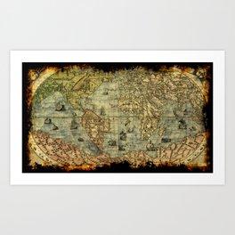 Vintage Old World Map Art Print