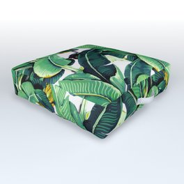 Tropical Banana leaves pattern Outdoor Floor Cushion