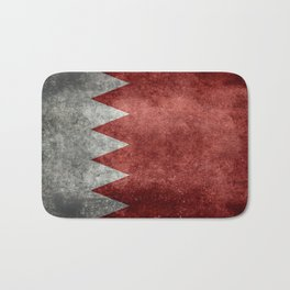 The flag of the Kingdom of Bahrain - Vintage version Bath Mat