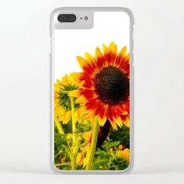 Sunflower Garden Clear iPhone Case