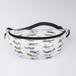 Various American WW2 Airplanes Fanny Pack
