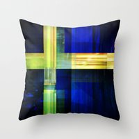sweden Throw Pillows featuring Flag: Sweden by Ambassad Collective
