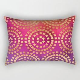 Summer Heat Geometric Pattern Rectangular Pillow