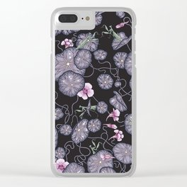 Black Indian cress garden. Clear iPhone Case