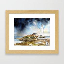 St. Mary's Lighthouse Framed Art Print