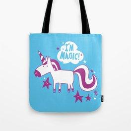 """I'm magic"" unicorn Tote Bag"