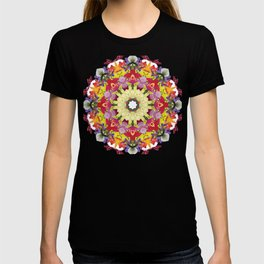 Abundantly colorful orchid mandala 1 T-shirt