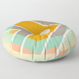 Fish -color graphic Floor Pillow