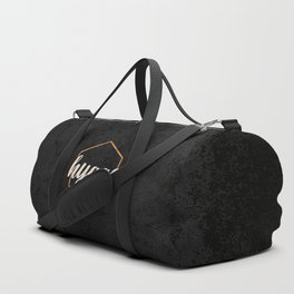 HYGGE - Black and Gold hexagon Duffle Bag