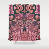 jungle Shower Curtains featuring Jungle by Akwaflorell