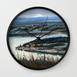 Cougar mountain Million dollar view, Seattle Wall Clock