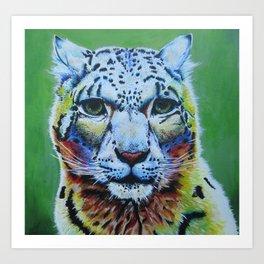 Snow Leopard Art Print