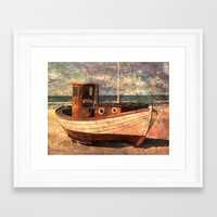 lonely Framed Art Prints featuring Lonely by Fernando Vieira