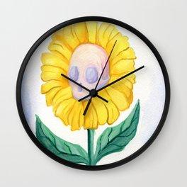 skullflower Wall Clock