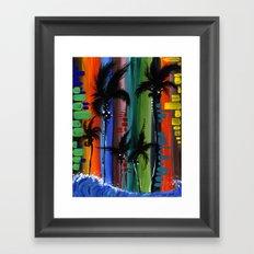 """COLOR IN PARADISE""  Framed Art Print"
