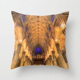 St Patrick's Cathedral New York Throw Pillow