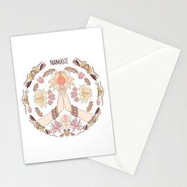 Namaste Hand/ Mandala/ Meditation Art/Illustration Stationery Cards