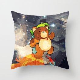 Jet Bear Throw Pillow