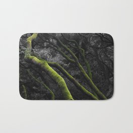 Mossy Bay Trees in Selective Black and White Bath Mat